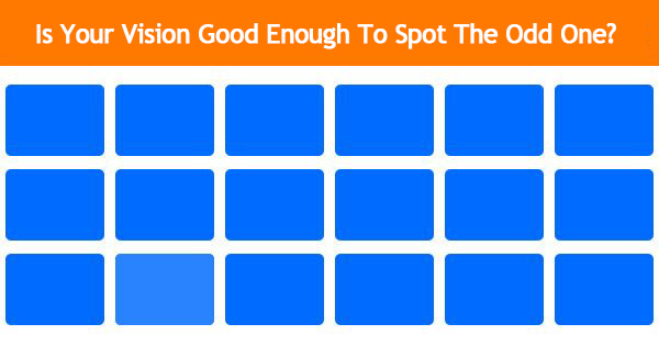[Game] Is Your Vision Good Enough To Spot The Odd One?