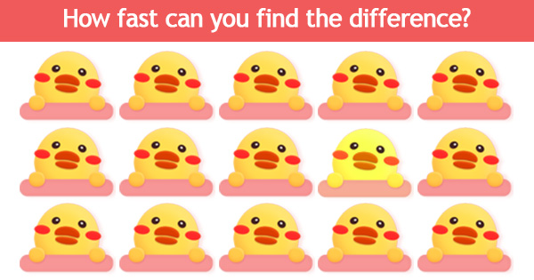 [Game] How fast can you find the difference?