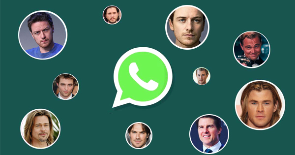What do male celebs prefer to chatting on Whatsapp?