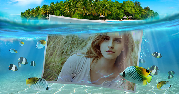 Create your beautiful underwater photo with the photo effect!