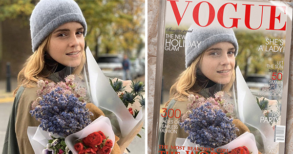 Create your own cover of Vogue magazine!