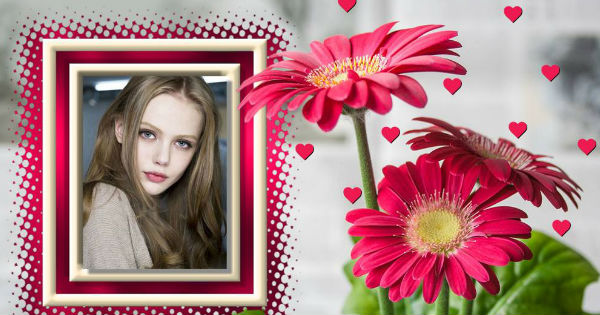 Create your beautiful photo with pink flowers. See it now!
