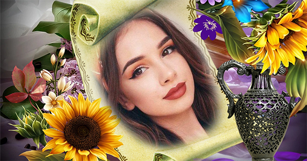 Make your vintage flowers photo with this amazing photo effect, try it now!