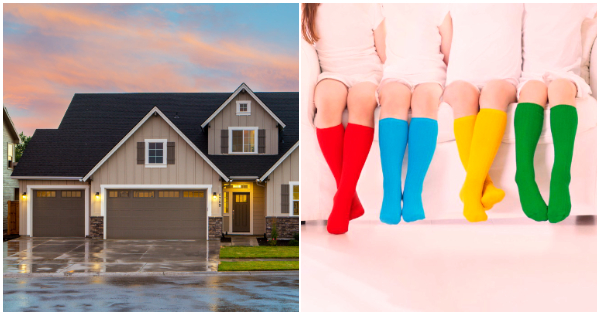 Choose the house of your dreams to discover which socks match your personality.