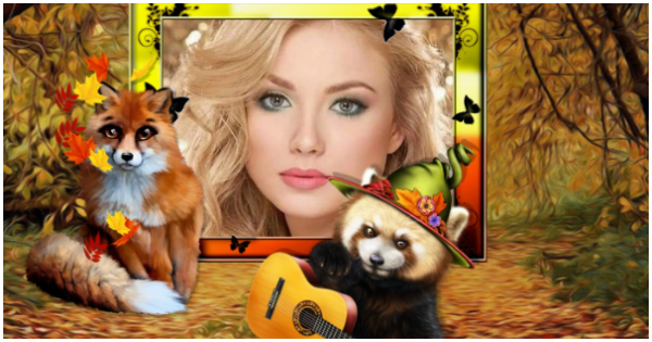Create your fall theme photo with 2 lovely animals