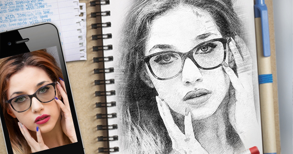 Let`s draw your portrait now!